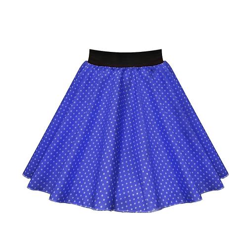 IC269 Royal Blue Small Spot Skirt