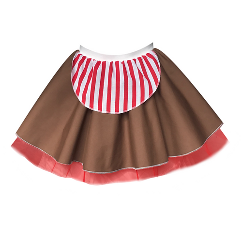 IC221 Gingerbread Man Skirt