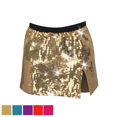 IC317 High Sequin Split Skirt