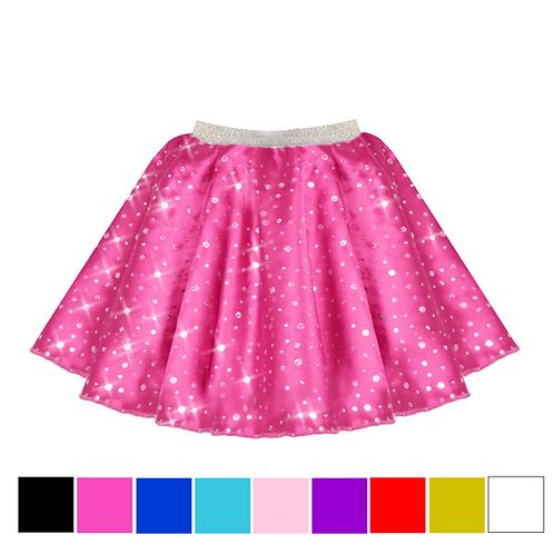 IC208 Satin Sequin Skirt