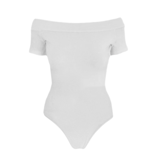 IC245 White Bardot Leotard