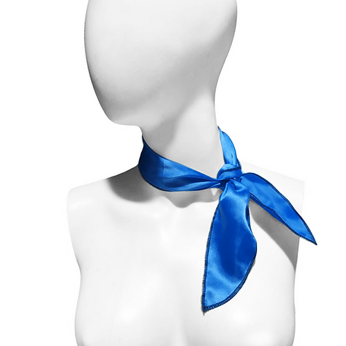 IC266 1950's Royal Blue Satin Neck Scarf