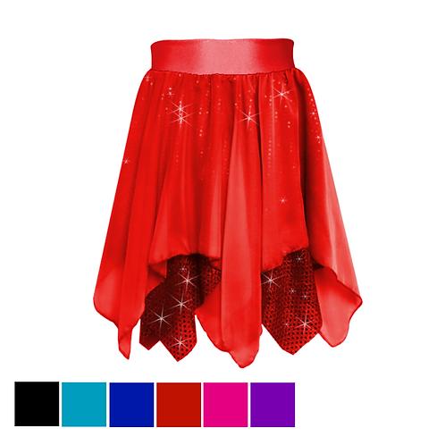 IC209 Chiffon & Sequin Lyrical Skirt