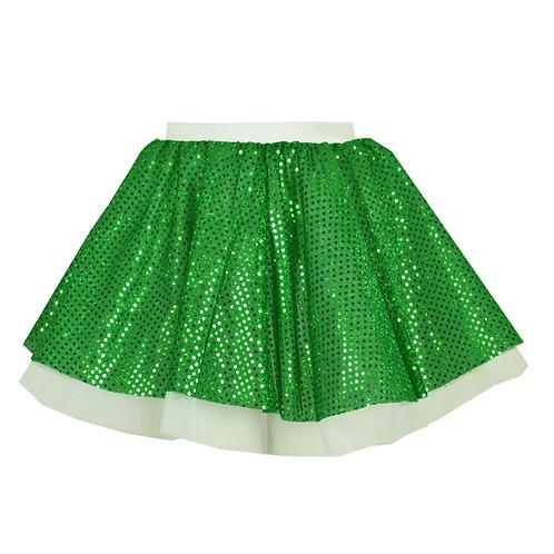 IC240 Green Sequin & White Skirt