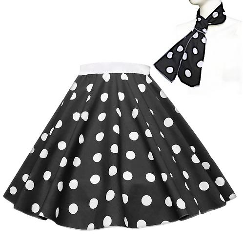 Polka Dot Rock n Roll Skirt
