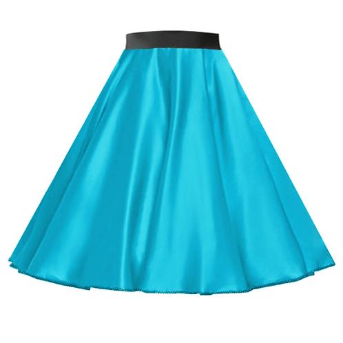 Satin Rock n Roll Skirt Turquoise