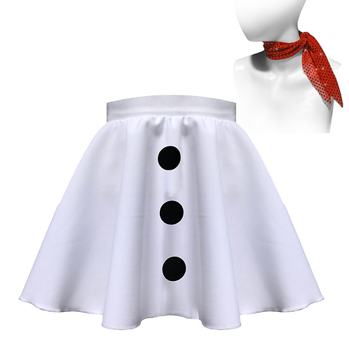 IC195 Snowman Skirt and Scarf