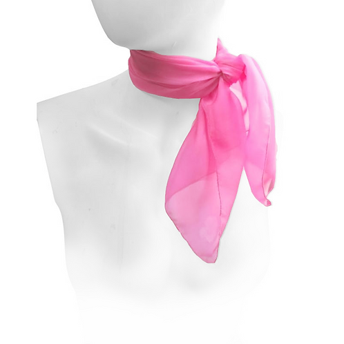 Candy Pink 1950's Style Chiffon Neck Scarf