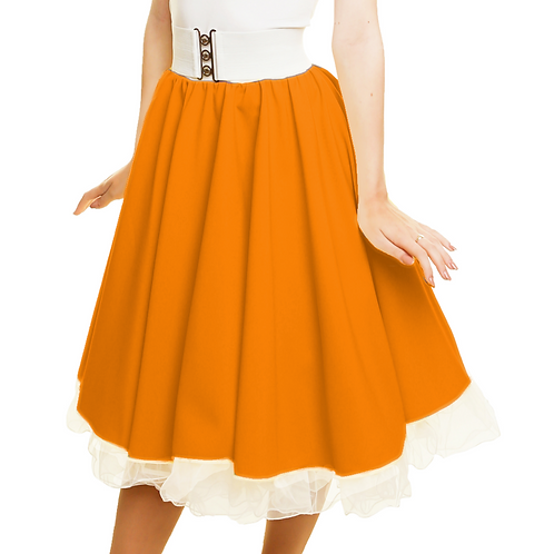 Orange Rock n Roll Skirt
