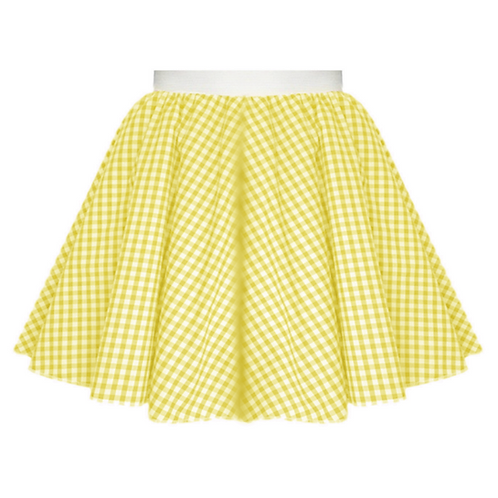 IC380 Yellow Gingham Skirt