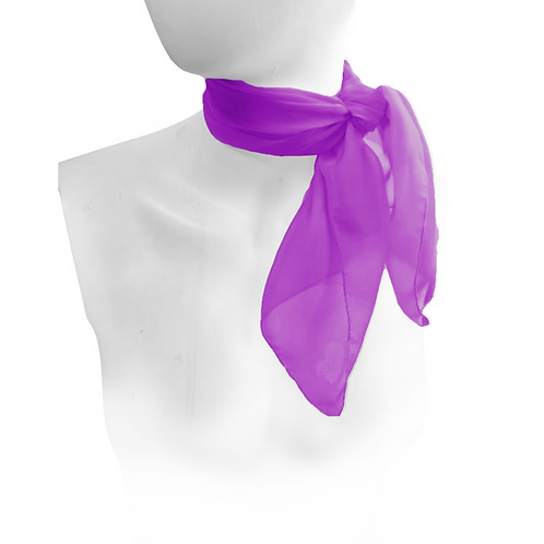 Purple 1950's Style Chiffon Neck Scarf