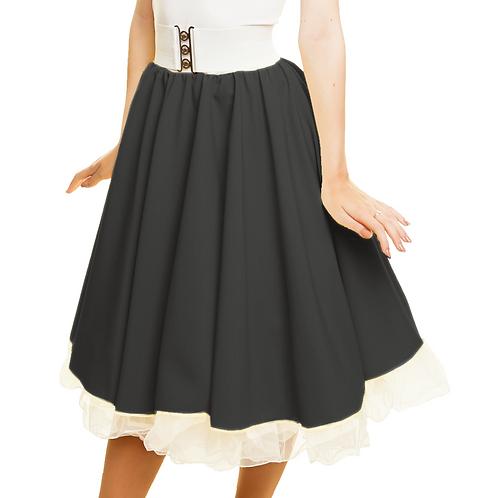 Black Rock n Roll 1950's Costume Skirt