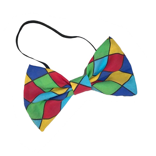 IC174 Rainbow Check Clown Bow Tie