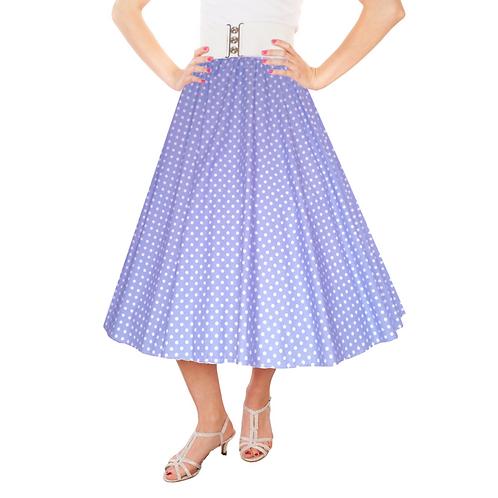 Girls Spotty Lilac Rock n Roll Costume Skirt