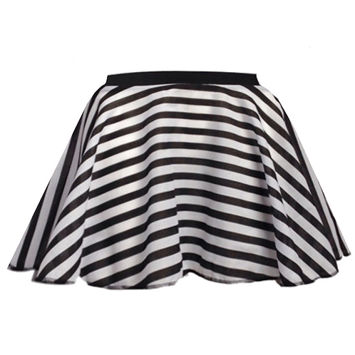 Black and White Striped pirate skirt pirate costume