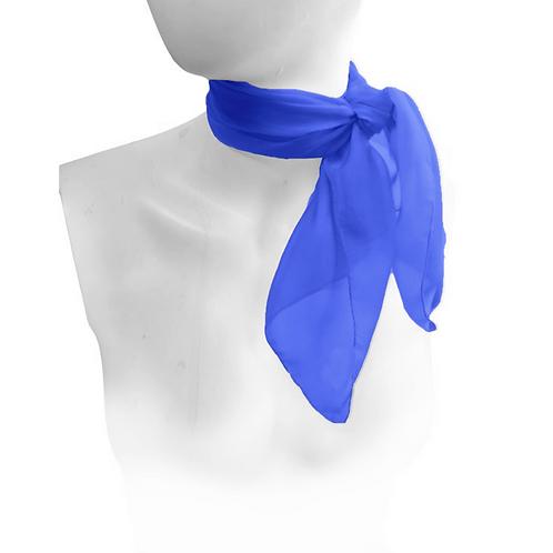Blue 1950's Style Chiffon Neck Scarf