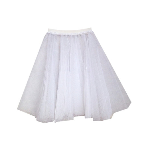 IC310 White Two Layer Underskirt