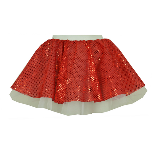 IC234 Christmas Red Sequin Skirt