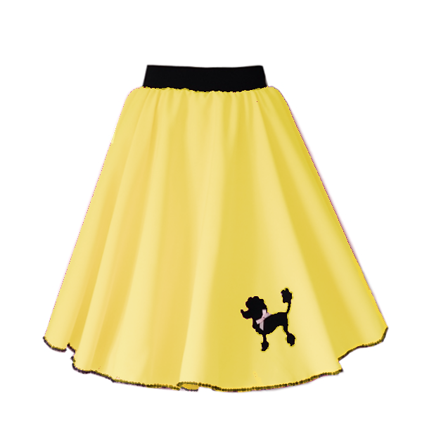 Girls Yellow Polly Poodle Skirt