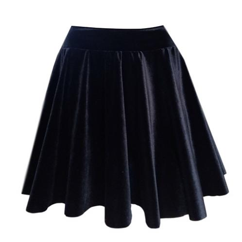Girls Black Velvet Dance Skirt