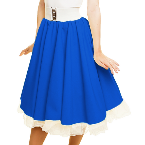Royal Blue Rock n Roll Skirt Costume