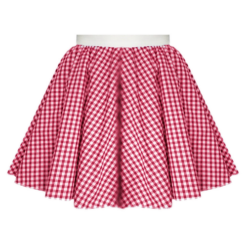 IC380 Red Gingham Skirt
