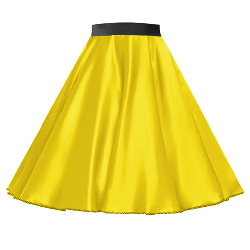 Satin Rock n Roll Skirt Yellow