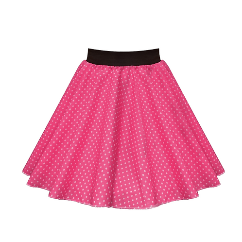 IC269 Cerise Pink Small Spot Skirt