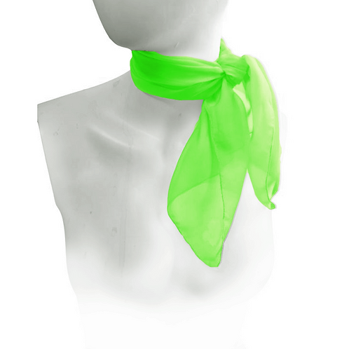 Lime Green 1950's Style Chiffon Neck Scarf