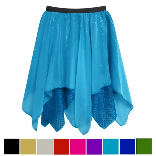 IC301 Chiffon & Sequin Lyrical Skirt