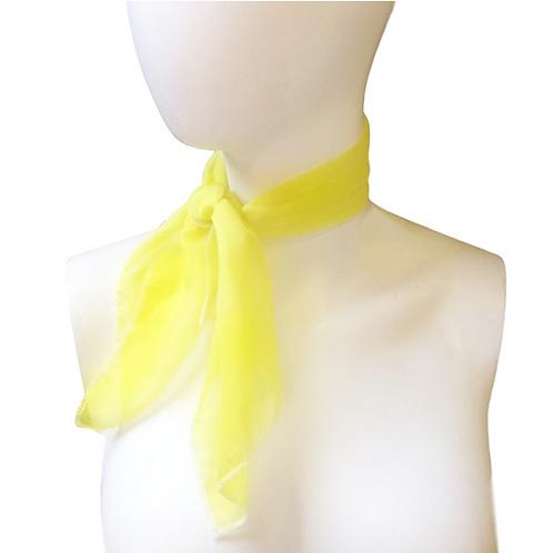 Yellow 1950's Style Chiffon Neck Scarf