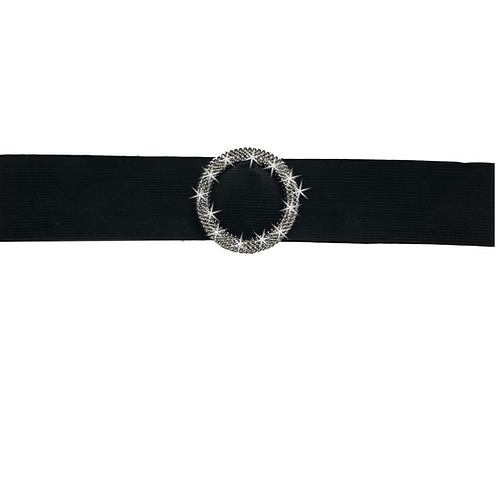 IC172 Black Elastic Belt