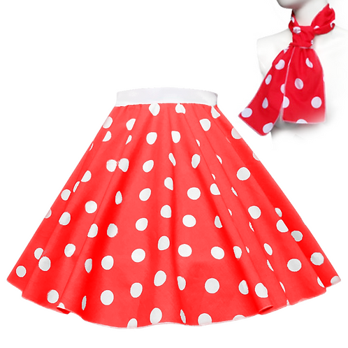 Polka Dot Rock n Roll Skirts