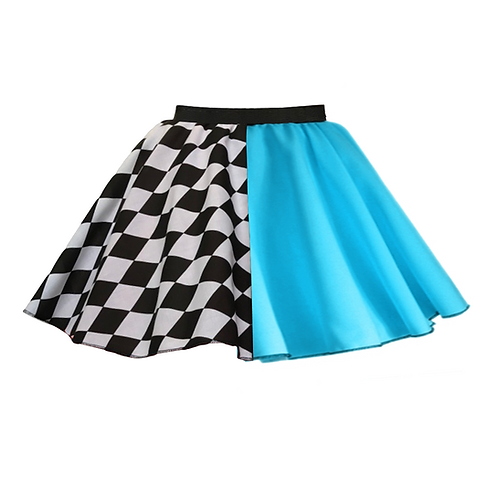 IC248 Turquoise Harlequin Skirt