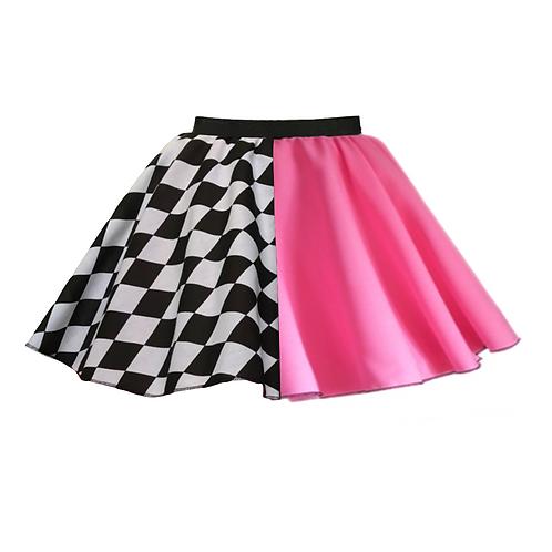 IC248 Pink Harlequin Skirt
