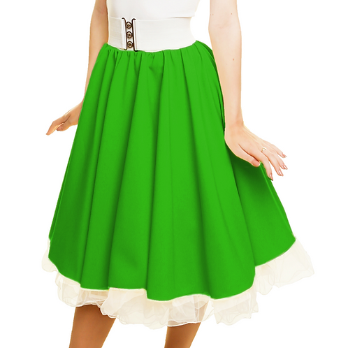 Green Rock n Roll Skirt