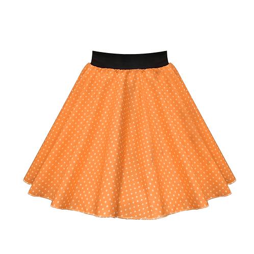 IC269 Orange Small Spot Skirt
