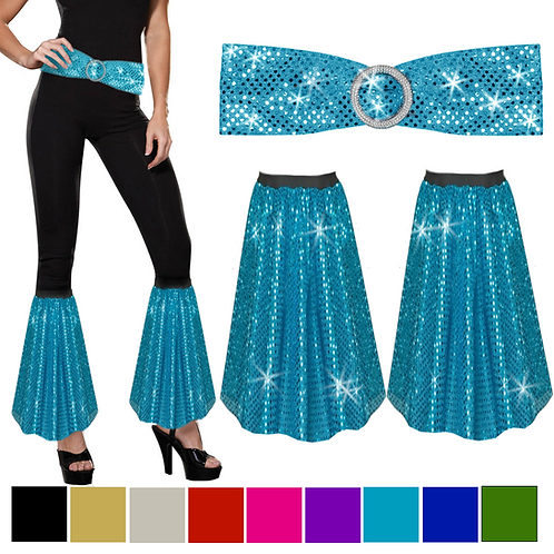 IC280 Sequin Flares - Trousers Bottoms & Belt