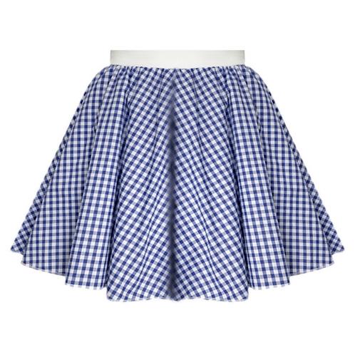 IC380 Blue Gingham Skirt