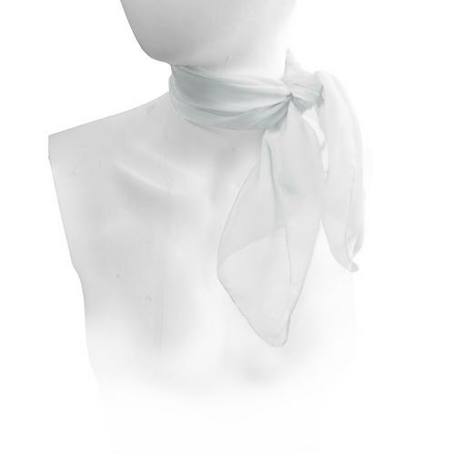 White 1950's Style Chiffon Neck Scarf