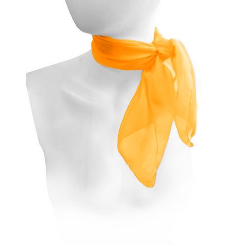 Orange 1950's Style Chiffon Neck Scarf