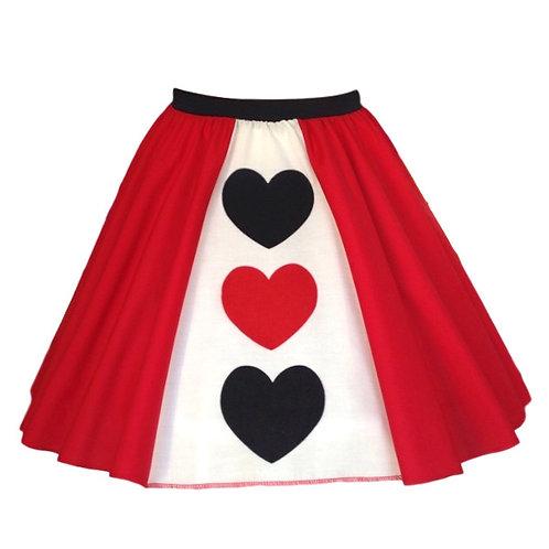IC256 Queen of Hearts Panel Skirt