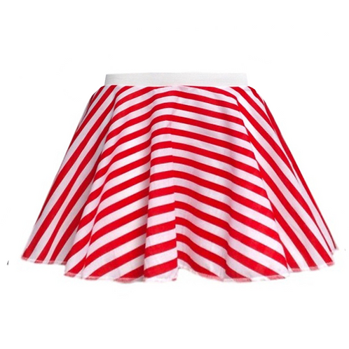 Red and White striped skirt pirate costume