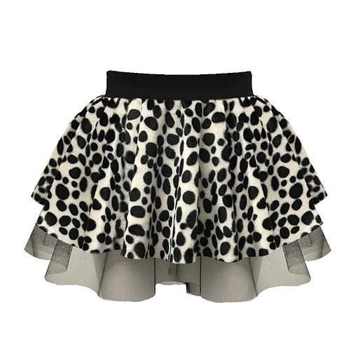 IC219 Dalmatian Print Tutu Skirt