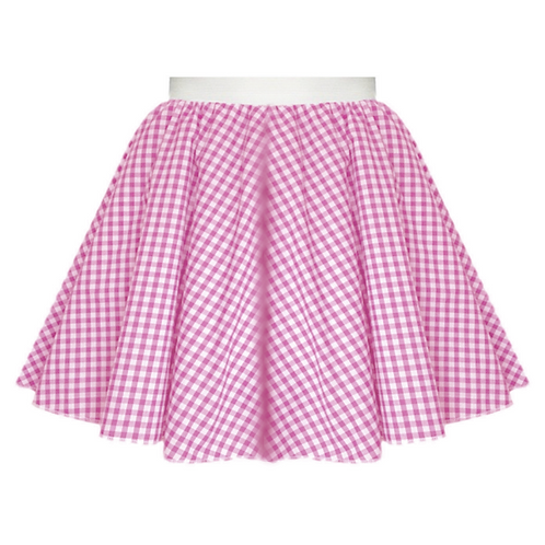 IC380 Pink Gingham Skirt