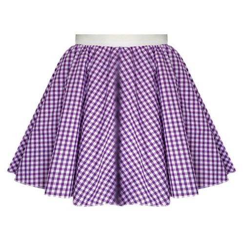 IC380 Purple Gingham Skirt