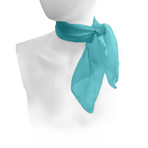 Teal 1950's neck scarf