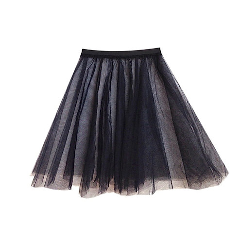 IC310 Black Two Layer Underskirt