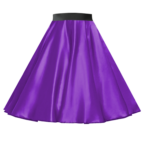 Satin Rock n Roll Skirt Purple