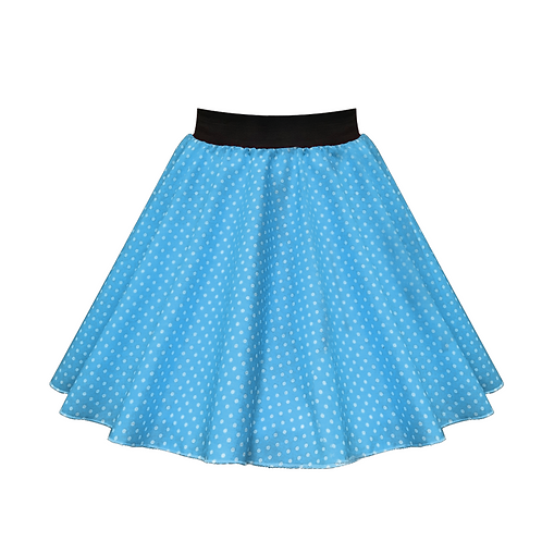 IC269 Turquoise Small Spot Skirt